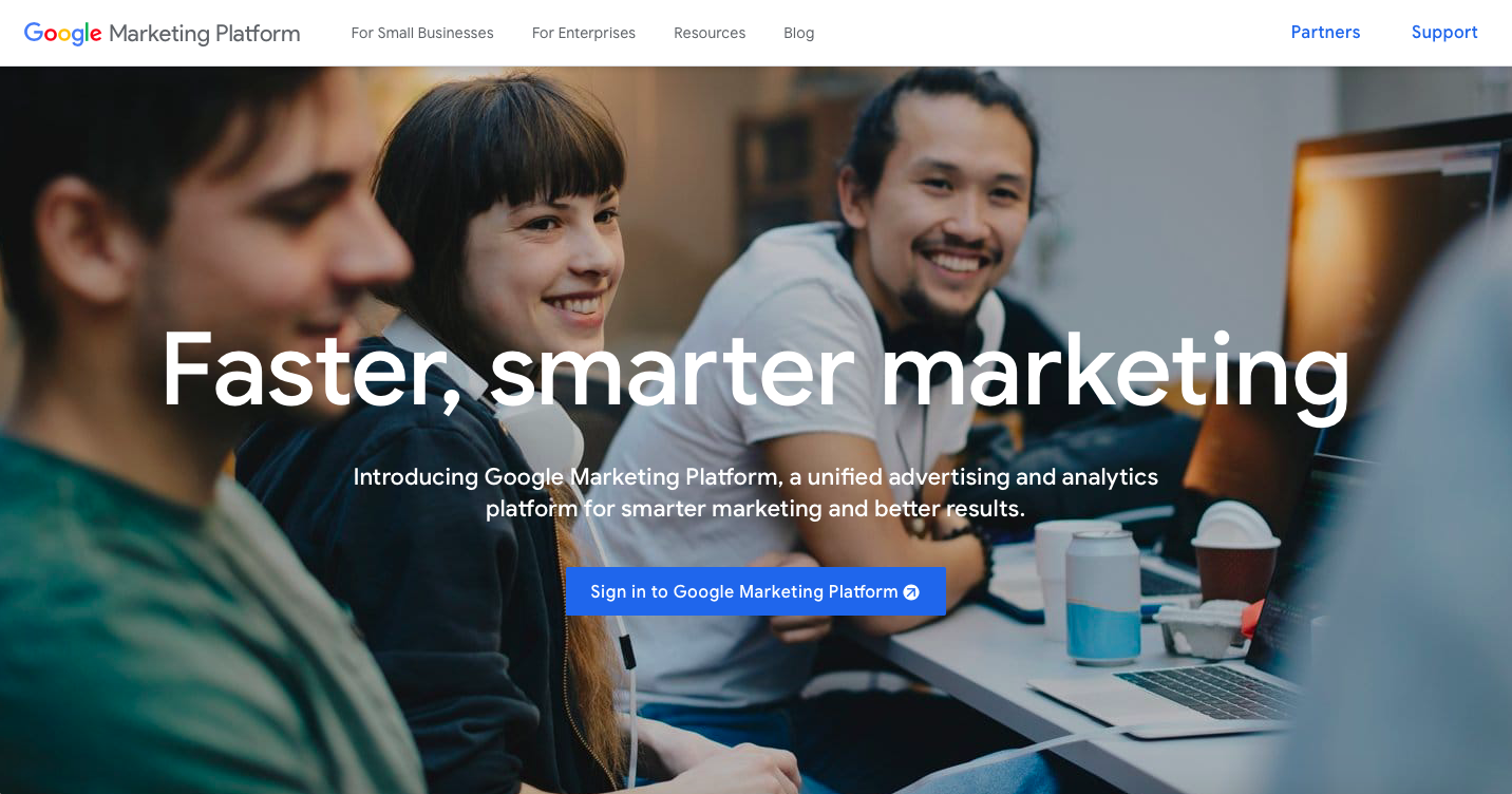 Google Marketing Platform Home