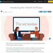 linkedin adreview