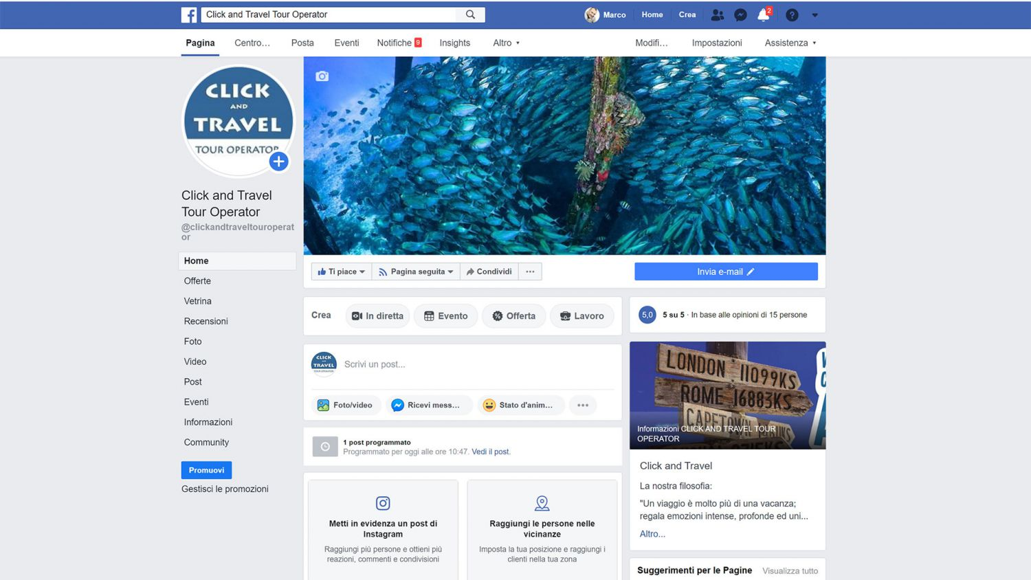 click and travel tour operator facebook