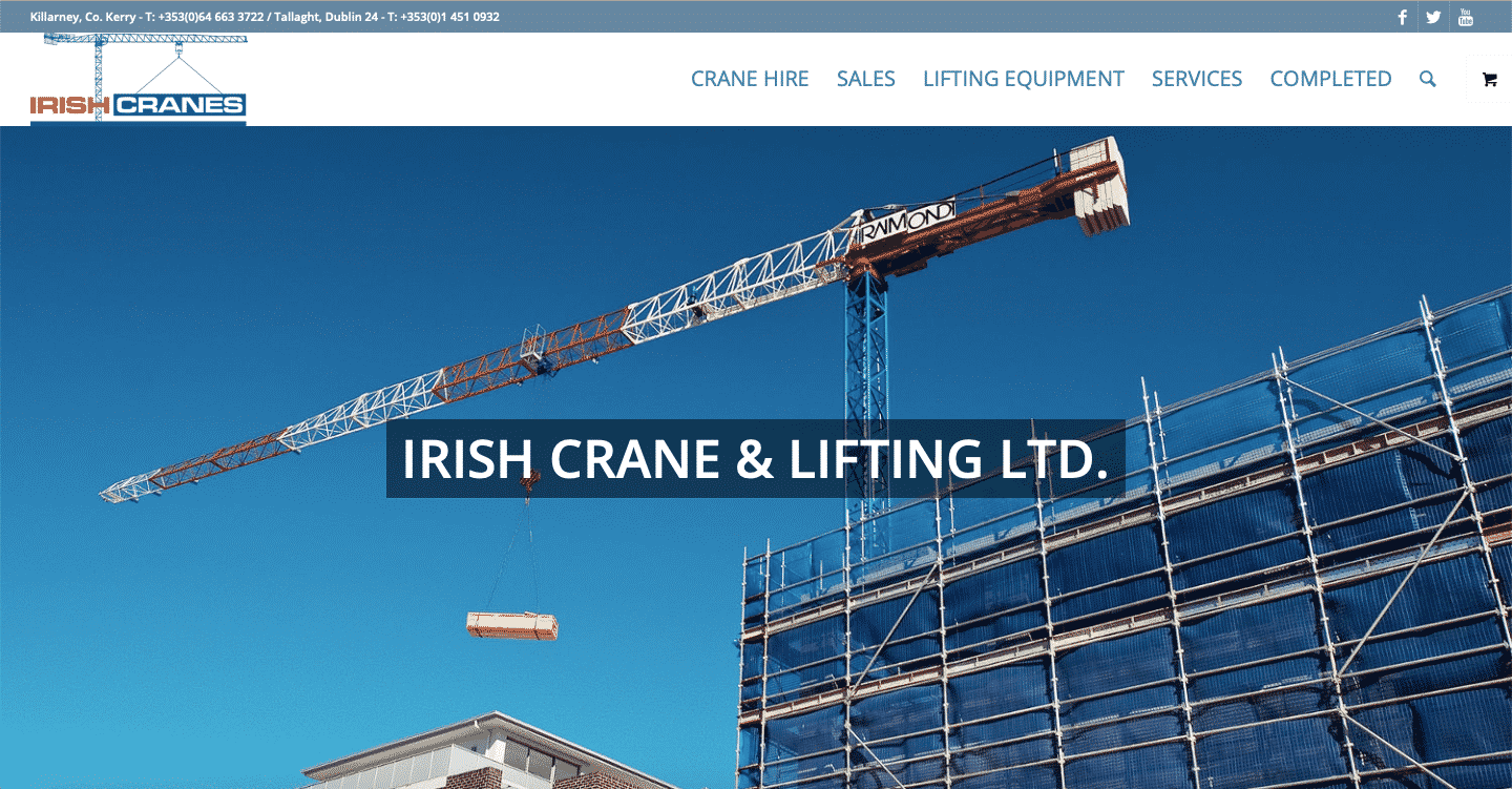 irish crane & lifting ltd website