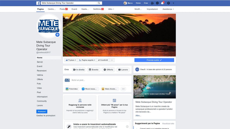 mete perdute mete subacque facebook