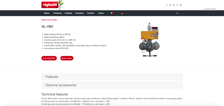 righetti sito web