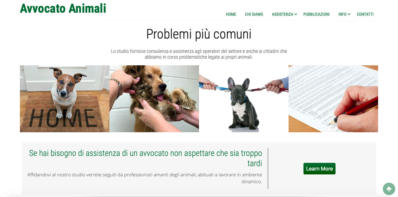 avvocato animali sito web