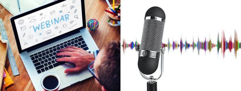 webinar e podcast