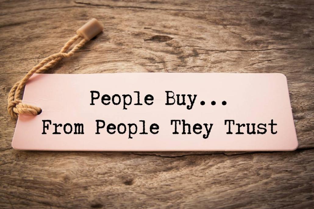 le persone comprano da persone di cui si fidano