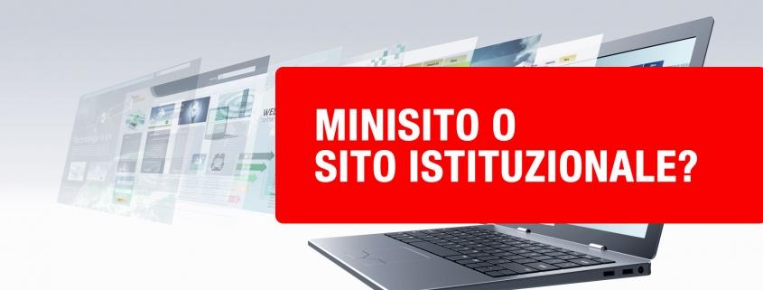 mini sito o sito istituzionale