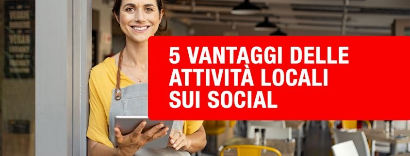 attività locali sui social
